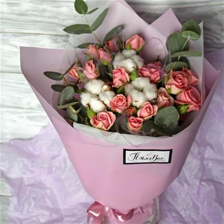 """Букет-коктейль """"Sweet rosy"""" B138"""