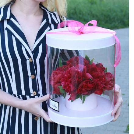 Коробка с цветами L145