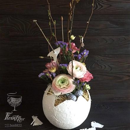 Пасхальная цветочная композиция A200