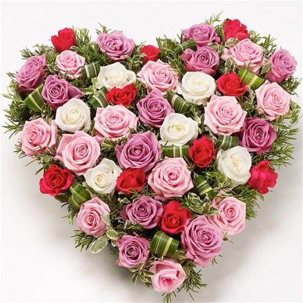 """Сердце из роз """"Sweet love"""" A068"""