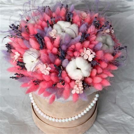Шляпная коробка из сухоцветов N014