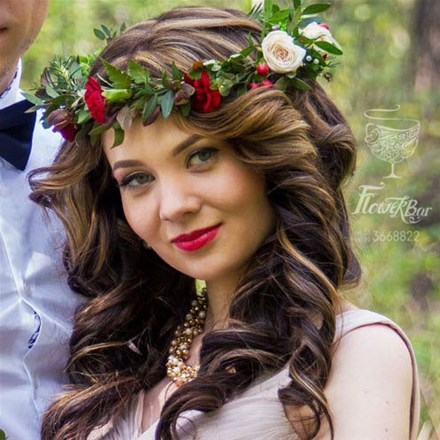фото венки на голову из цветов