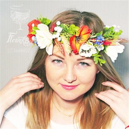 Венок из цветов на голову F005