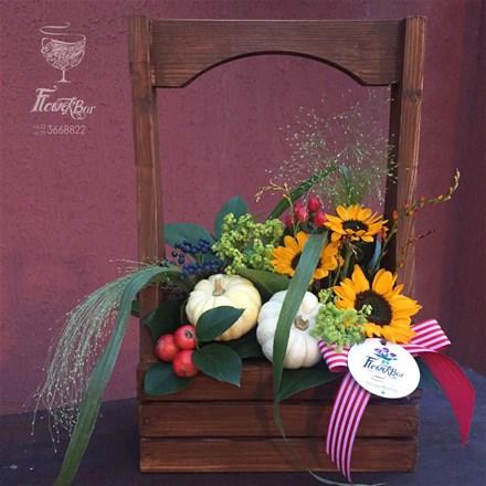 WoodBox & Flowers A023
