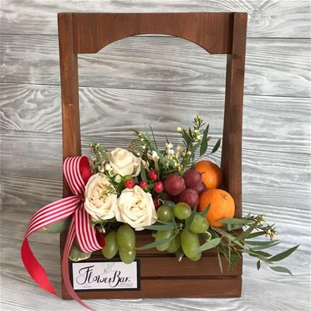 WoodBox & Flowers A109