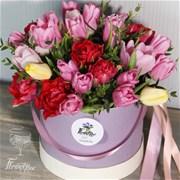 Шляпная коробка с тюльпанами M136