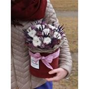 Шляпная коробка из сухоцветов D116