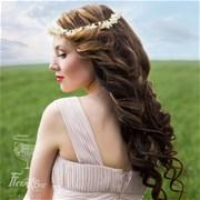 Свадебный венок из живых цветов  F010