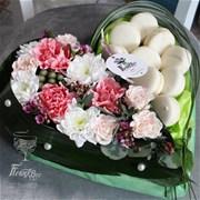 Сердце из цветов A127