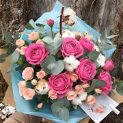 "Букет-коктейль ""Cotton&piony roses"" B052"