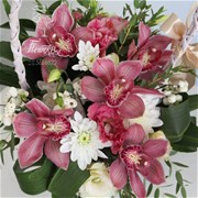 "Композиция из орхидей ""Hot Blush"" A114"