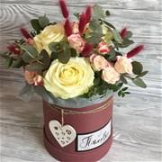Шляпная коробка с цветами S163