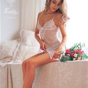 Свадебный букет из пионовидных роз, гвоздики, брунии Е051