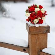 Свадебный букет из роз E042