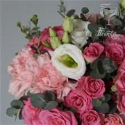 Свадебный букет из кустовых роз E045