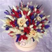 Шляпная коробка из сухоцветов N012
