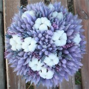 Шляпная коробка из сухоцветов N003
