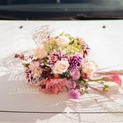 Свадебная композиция на машину (авто) I009