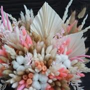 Шляпная коробка с сухоцветами N025