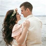 Свадебный венок из живых цветов F011
