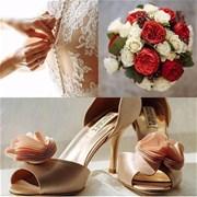 Свадебный букет из пионовидных и кустовых роз E061