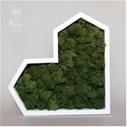 Декоративное сердце из мха H019