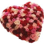 Сердце из 101 розы A072