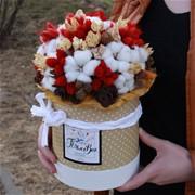 Шляпная коробка из сухоцветов D117