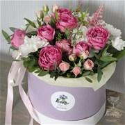 Шляпная коробка с цветами  M142