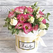 Шляпная коробка с цветами S080