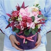 Шляпная коробка с цветами S171