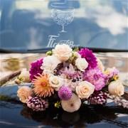 Свадебная композиция на машину (авто) I010