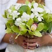 Свадебный букет из орхидей Е125