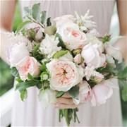 Свадебный букет из пионовидных роз Е104