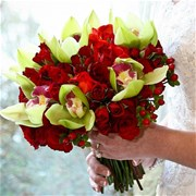Свадебный букет из роз и орхидей Е124