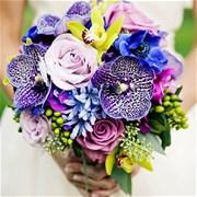 Свадебный букет из роз и орхидей Е127